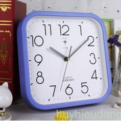 Đồng hồ treo tường 16 màu xanh dương
